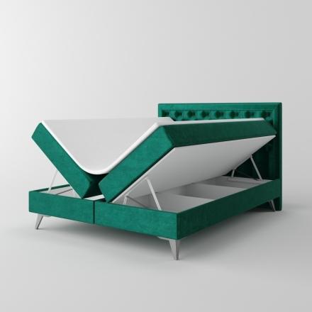 Čalúnená kontinentálna posteľ - 10426
