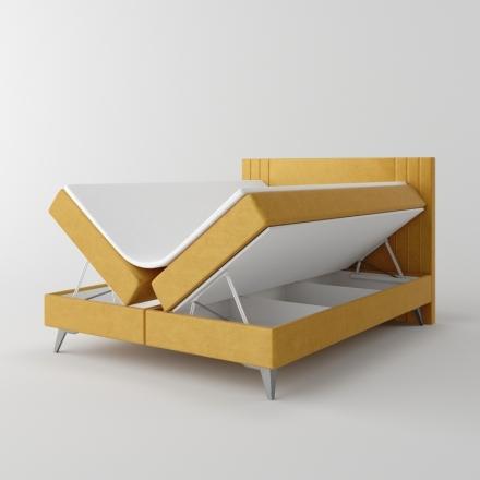 Čalúnená kontinentálna posteľ - 10458