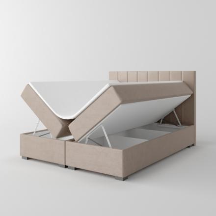 Čalúnená kontinentálna posteľ - 10619