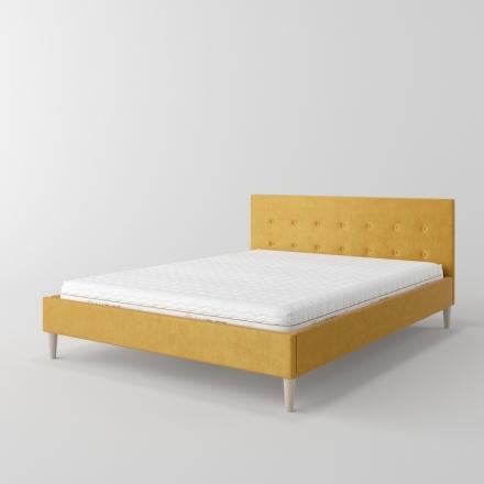 łóżko tapicerowane z kryształkami - 10817