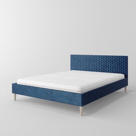 čalúnená posteľ s prešívaním - 11086