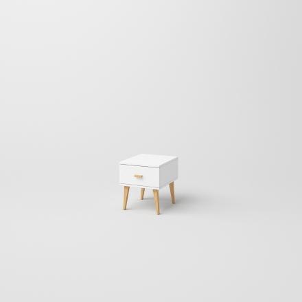 Biely Škandinávsky Nočný Stolík - 6074