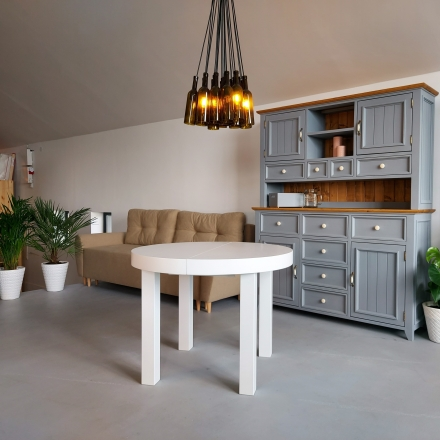Biely stôl do obývačky - 8701